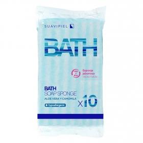Esponja de baño desechables Esponjabon 10 ud.