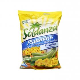 Snacks plátano salados Soldanza 71 g.