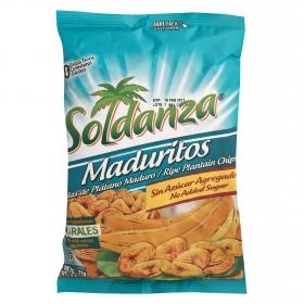 Snacks plátano sin azúcar Soldanza 71 g.