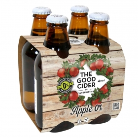 Sidra The Good Cider sin alcohol pack de 4 botellas de 25 cl.