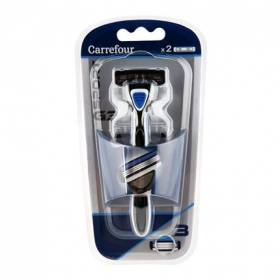 Maquinilla de afeitar 3 hojas G3 sport Carrefour 1 ud.