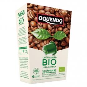 Café arábica ecológico en cápsulas Oquendo compatible con Nespresso 10 ud.