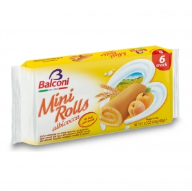 Mini rolls de albaricoque Balconi 180 g.
