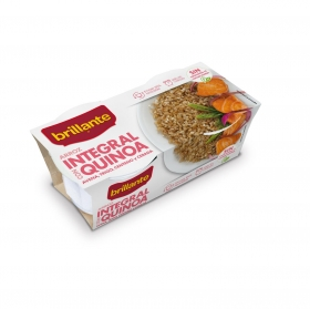 Arroz integral con quinoa para microondas Brillante pack de 2 unidades de 125 g.