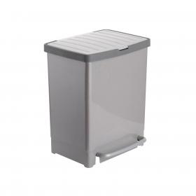 Cubo  de basura de Plástico Tatay  17 + 8 Litros - Gris