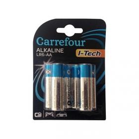 Pack de 6 Pilas Alcalinas I-Tech Carrefour Lr06 (Aa)