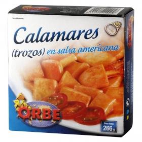 Calamares en salsa americana Orbe 266 g.