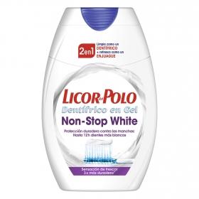 Dentífrico + Enjuague bucal 2 en 1 Non-Stop White Licor del Polo 75 ml.