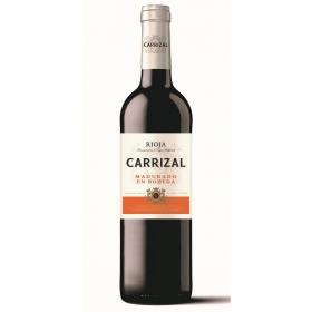 Vino D.O. Rioja tinto madurado 6 meses en bodega Carrizal 75 cl.