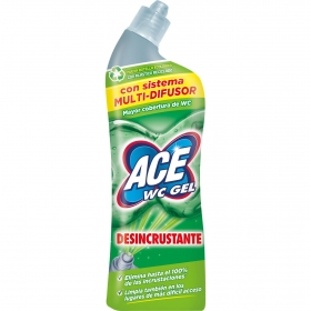 Gel desincrustante WC sin lejía Ace 700 ml.
