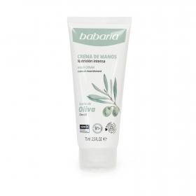 Crema de manos con aceite de oliva Babaria 75 ml.