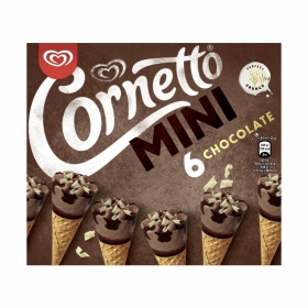 Mini conos con helado de chocolate Cornetto 216 g.
