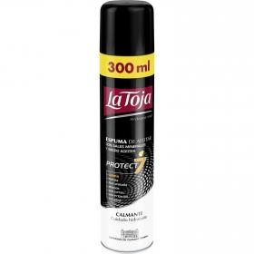 Espuma de afeitar con micro aceites Protect 7 La Toja 300 ml.