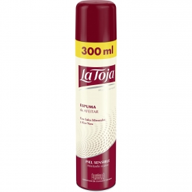 Espuma de afeitar para piel sensible La Toja 300 ml.