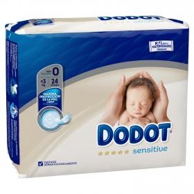 Pañales Dodot Sensitive recién nacido T0 -3 kg 24 ud.