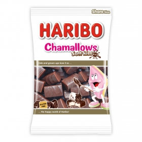 Nubes de chocolate Chamallows Soft kiss Haribo 175 g.