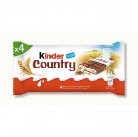 Barrita de chocolate con leche y cereales Kinder 4 ud.