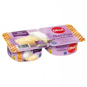 Natillas de vainilla Dhul sin lactosa pack de 2 unidades de 125 g.