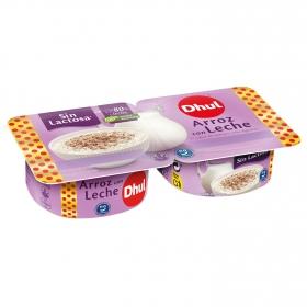Arroz con leche Dhul sin lactosa pack de 2 unidades de 130 g.