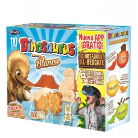 Galletas de chocolate blanco Dinosaurus Artiach 360 g.