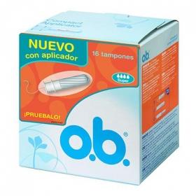 Tampones con aplicador super O.B. 16 ud.
