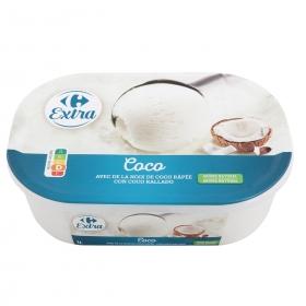 Helado de coco Carrefour 1000 ml.