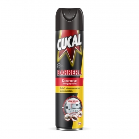 Insecticida spray barrera contra cucarachas, hormigas y arañas Cucal 400 ml.
