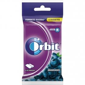Chicles sabor arándanos Orbit 4 paquetes de 10 ud.