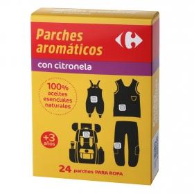 Parches aromáticos con citronela Carrefour 24 ud.