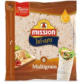 Tortillas de trigo multicereales Mission 6 ud.