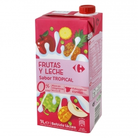 Zumo de frutas y leche Carrefour sabor tropical brik 1 l.