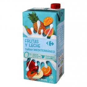 Zumo de frutas y leche Carrefour sabor mediterráneo brik 1 l.