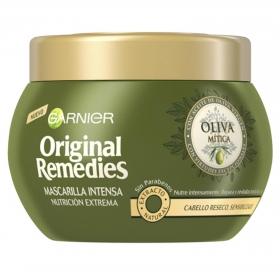 Mascarilla capilar intensa nutrición extrema con aceite de oliva virgen Ganier Original Remedies 300 ml.