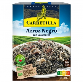 Arroz negro con calamares Carretilla 300 g.