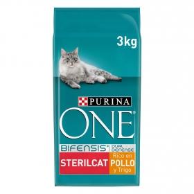 Purina ONE Bifensis Pienso para Gatos Esterilizados Pollo y Trigo 3Kg