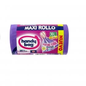 25 Bolsas de basura Maxi Rollo Perfumadas Handy Bag 30 l - Morado
