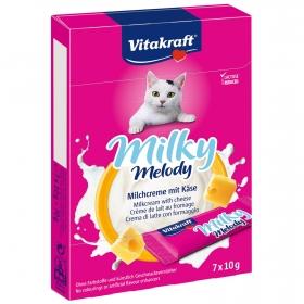 Crema de Leche Vitakraft con Queso para Gatos 70gr