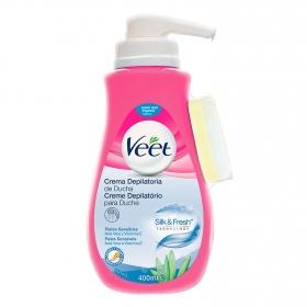 Crema depilatoria para pieles sensibles Veet 400 ml.