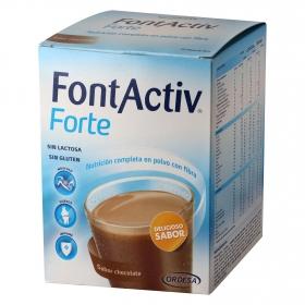 Complemento alimenticio Forte sabor chocolate Fontactiv sin gluten y sin lactosa pack de 14 sobres de 30 g.