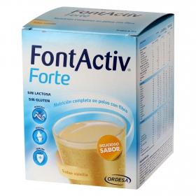 Complemento alimenticio Forte sabor vainilla Fontactiv sin gluten y sin lactosa pack de 14 sobres de 30 g.