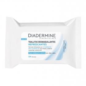 Toallitas desmaquillantes refrescantes para pieles normales y mixtas Diadermine 25 ud.