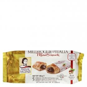 Snacks hojaldres rellenos de chocolate Vicenzi 125 g.