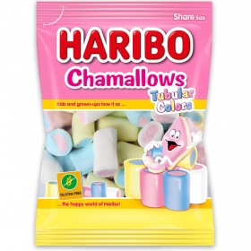 Caramelos de goma Chamallows Tubular Colors Haribo 250 g.