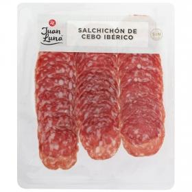 Salchichón ibérico cebo loncheado Juan Luna 100 g