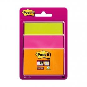 Pack de 3 Blocs de Notas Super Sticky Post-it