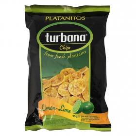 Snacks plátano sabor limón Turban 95 g.