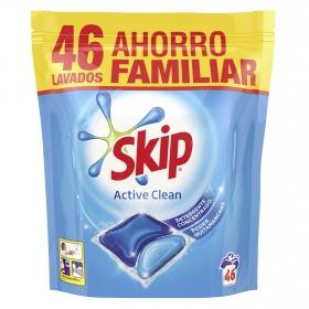 Detergente en cápsulas Active Clean Doble Acción Skip 46 ud.