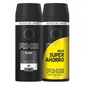 Desodorante en spray Black Axe pack de 2 unidades de 125 ml.