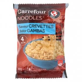 Noodles sabor a gamba Carrefour 85 g.