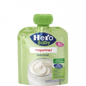 Yogur natural desde 6 meses Hero Baby Yogurines bolsita de 80 g.